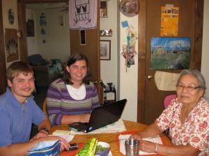 Cherokee language session