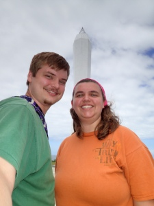 Josiah and I at the lighthouse in PNG where we got engaged